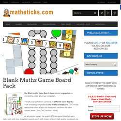 Blank Maths Game Board Pack