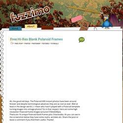 Free Hi-Res Blank Polaroid Frames