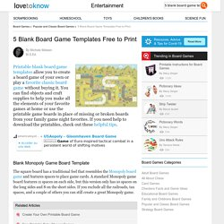 5 Blank Board Game Templates Free to Print