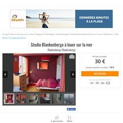 Blankenberge - Studio Blankenberge à louer sur la mer - Maisons de vacances à louer