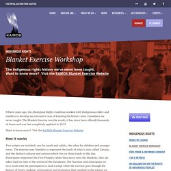 Blanket Exercise Workshop - KAIROS Canada