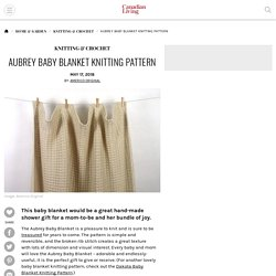 Aubrey Baby Blanket Knitting Pattern