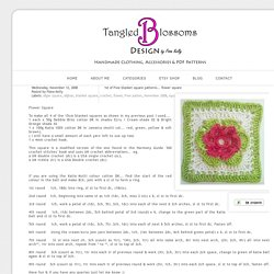 Tangled Blossoms Design: 1st of Free blanket square patterns... flower square