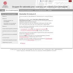 Blanketter för årskurs 6 - Uppsala universitet