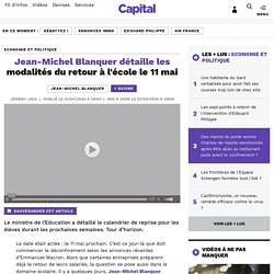 Jean-Michel Blanquer détaille les modalités du retour à l'école le 11 mai...