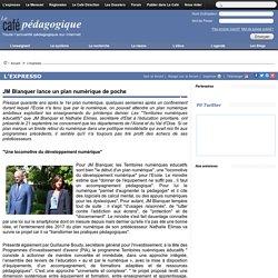 JM Blanquer lance un plan numérique de poche
