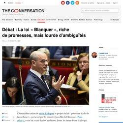 Débat : Laloi «Blanquer», riche depromesses, maislourde d'ambiguïtés