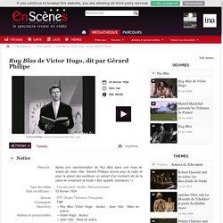 Ruy Blas de Victor Hugo, dit par Gérard Philipe