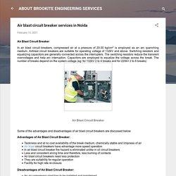 Air blast circuit breaker services in Noida