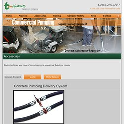 Equipment - Concrete Pumping Accessories, Parts, Nozzles, Adapters, Couplers, Shotcrete, SCIP, Gunite