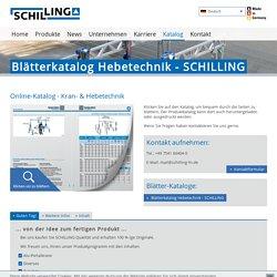 Blätterkatalog Hebetechnik - SCHILLING: