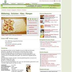 Blätterteig - Schinken - Käse - Stangen