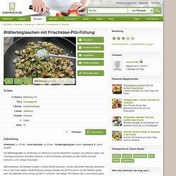 Blätterteigtaschen mit Frischkäse-Pilz-Füllung (Rezept mit Bild)