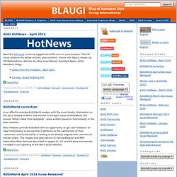 BLAUGI Blog of Autodesk User Group International