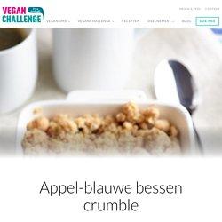 Appel-blauwe bessen crumble - VeganChallenge