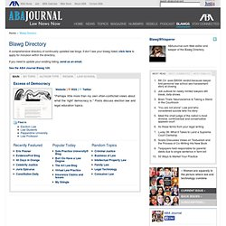 Blawg Directory - ABA Journal