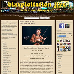 Blaxploitation Jive