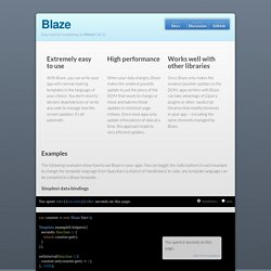 Blaze: easy reactive templating