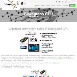 Blazegraph GPU