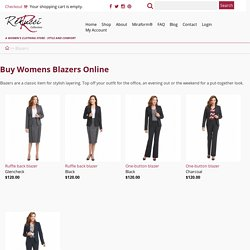 Buy Womens Blazers, One Button & Ruffle Back Blazers Online - Rekucci Collection