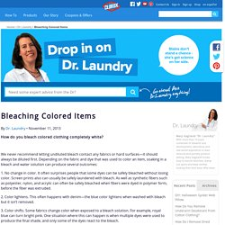 Bleaching Colored Items