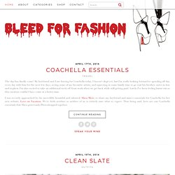 BLEED FOR FASHION | Vancouver Blog