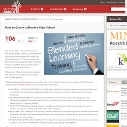 How to Create a Blended High School
