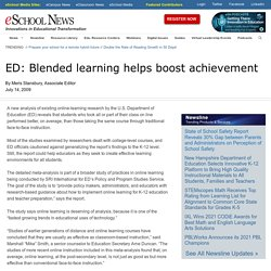 ED: Blended learning helps boost achievement
