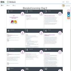 Blended Learning Dag 5 - Lessons
