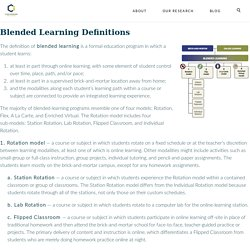 Blended Learning Model Definitions