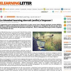 Le blended learning devrait (enfin) s'imposer !