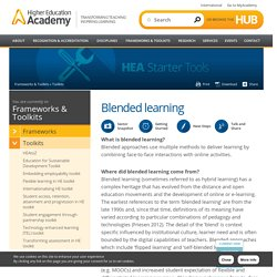 Blended Learning Starter Tool by the HEA