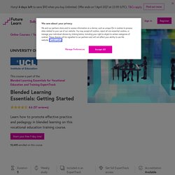 Blended Learning Essentials: Getting Started - University of Leeds