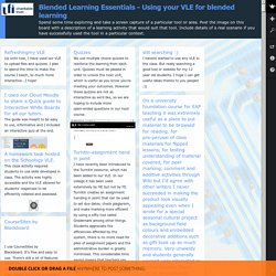 Blended Learning Essentials - Using your VLE for blended learning