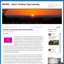Blended Learning Essentials: Getting Started