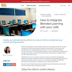 Blended learning integration in an LMS