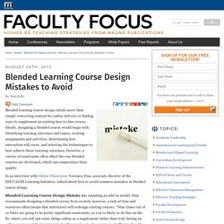 Blended Learning Course Design Mistakes to Avoid