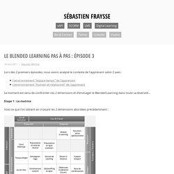 Le Blended Learning pas à pas : épisode 3 – Sébastien FRAYSSE