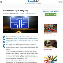 Blended learning: Step by step