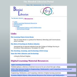The Blended Librarian - Resources