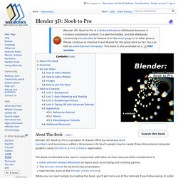Blender 3D: Noob to Pro - Wikibooks, open books for an open world