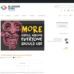12 Blender Addons Everyone Should Use