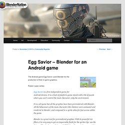 Egg Savior – Blender for an Android game