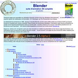 Blender, Animation 3d: Index