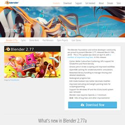 Blender 2.77a - blender.org - Home of the Blender project - Free and Open 3D Creation Software