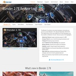 Blender 2.78 - blender.org - Home of the Blender project - Free and Open 3D Creation Software