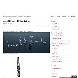 post Blender Rhino tricks « Fabulously Fabricated