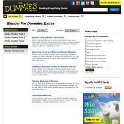 Blender For Dummies Extras