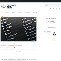 Blender 101: The Modifier Encyclopedia