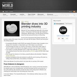 Blender dives into 3D printing industry